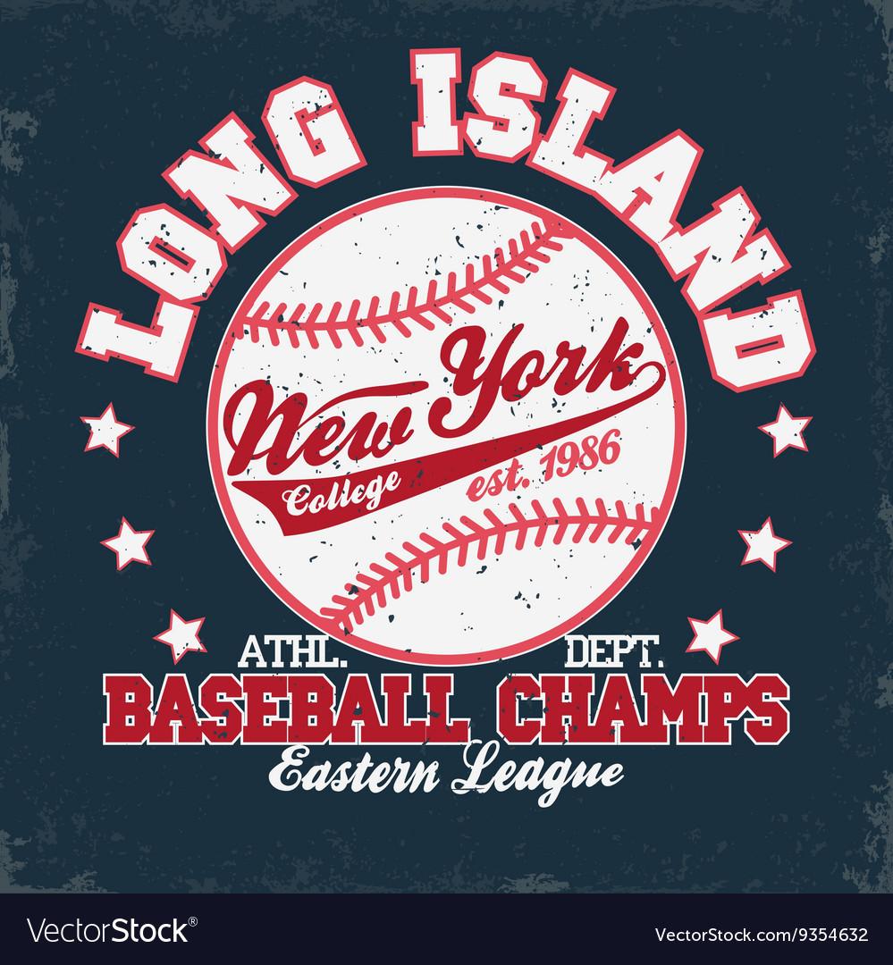 Baseball t-shirt print vector image