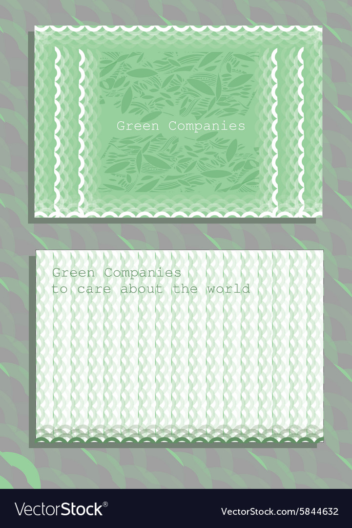 Set of horizontal ecology abstract business cards vector image