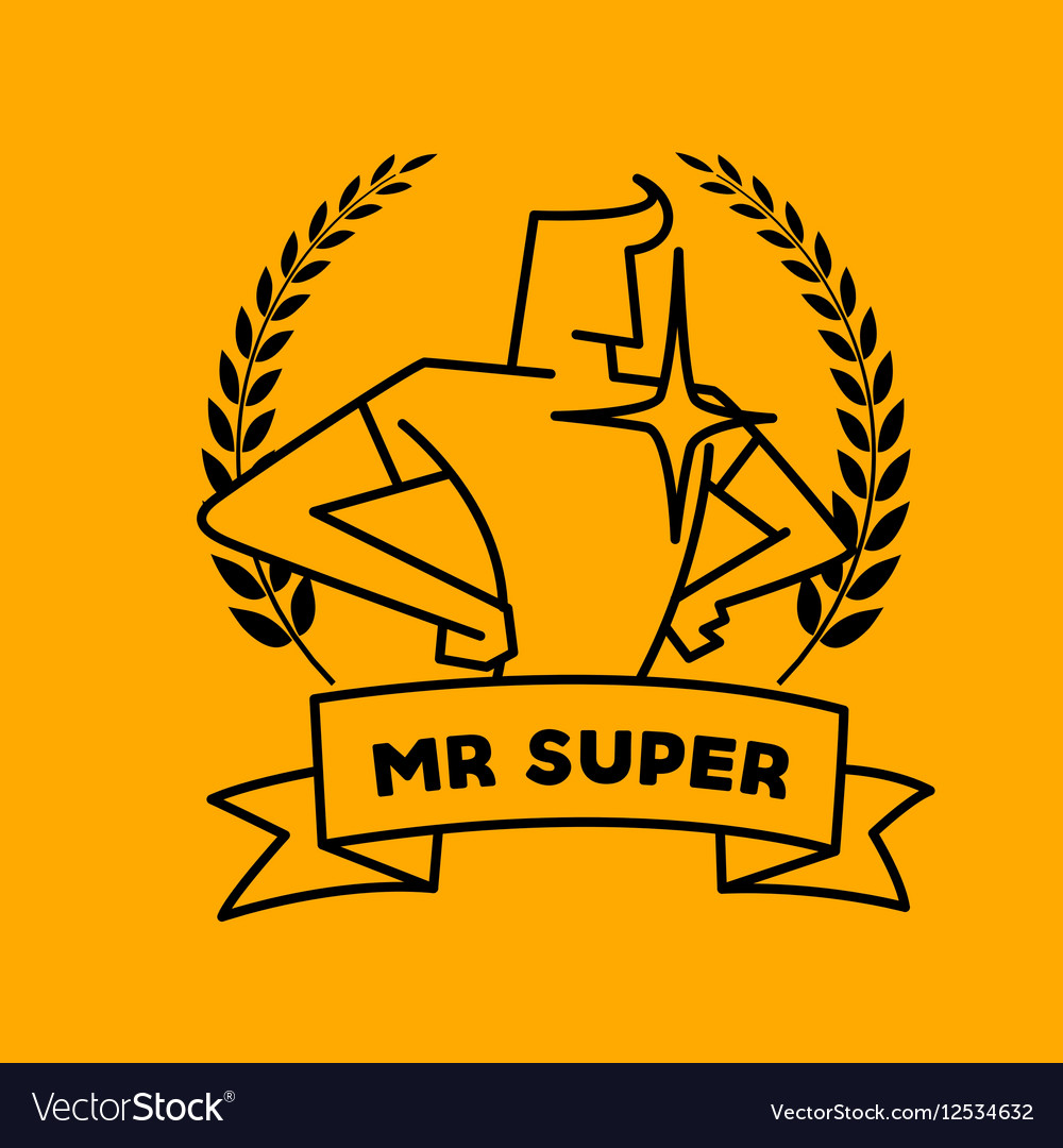 Superhero Isolated on a vector image