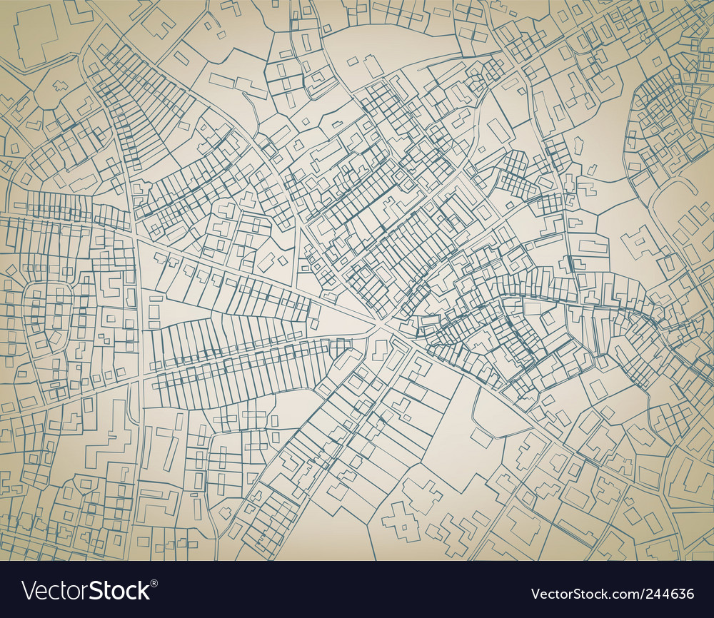 Rough map vector image