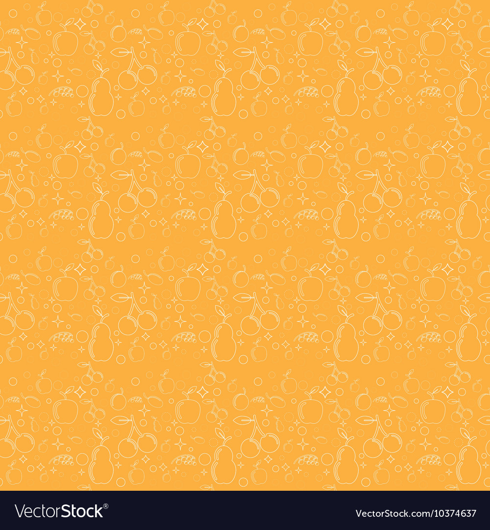 Seamless pattern with fruits such as pear apple vector image