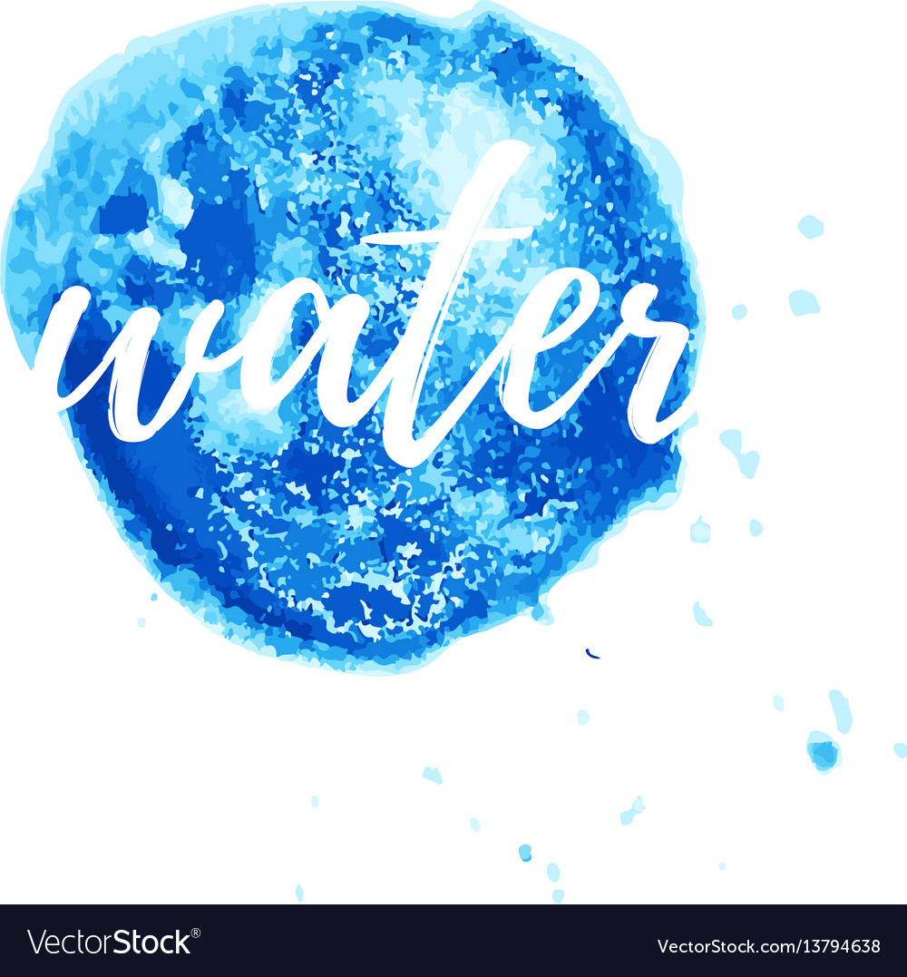 Water logo for corporate style wellness vector image
