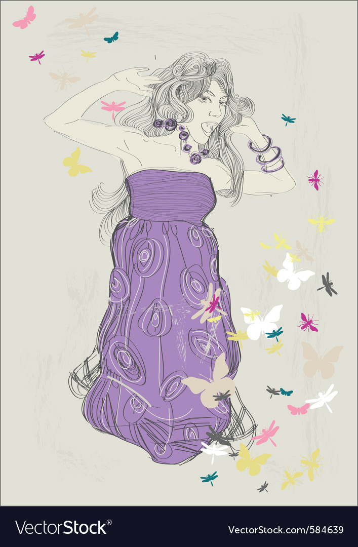 Artist sketch vector image