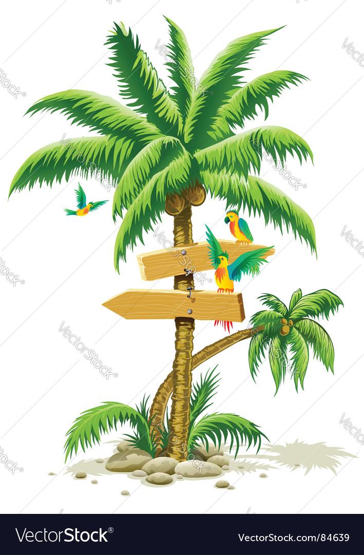 Tropical landscape vector image