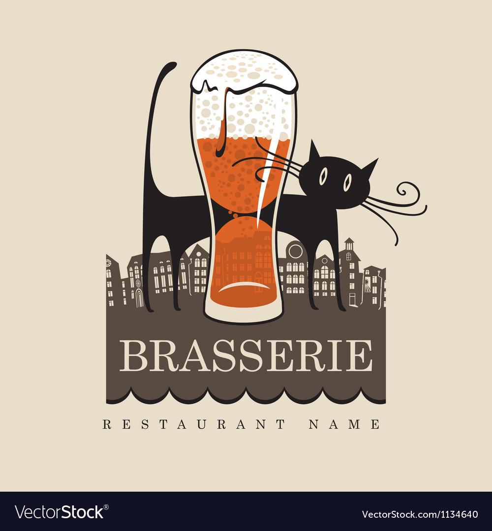 Cat pub vector image