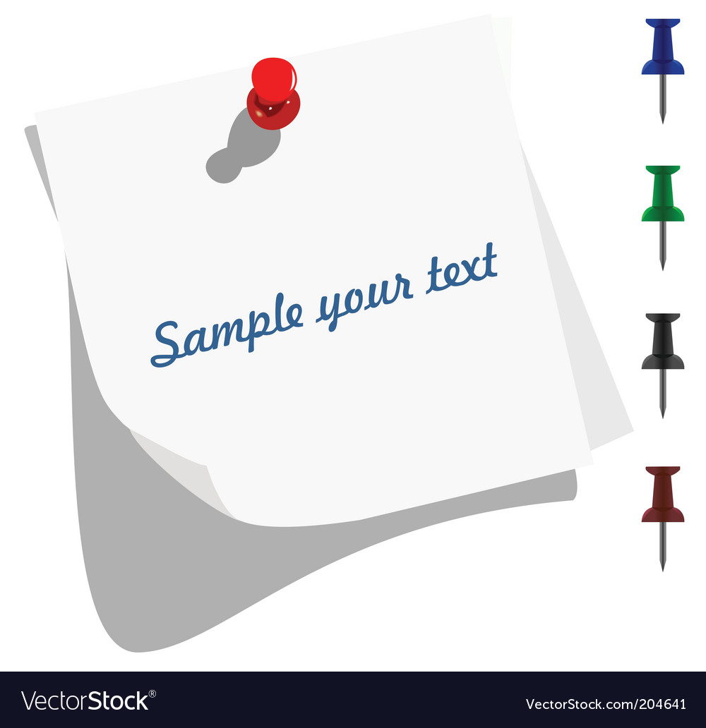 blank memo paper vector image by smeagorl image  blank memo paper vector image