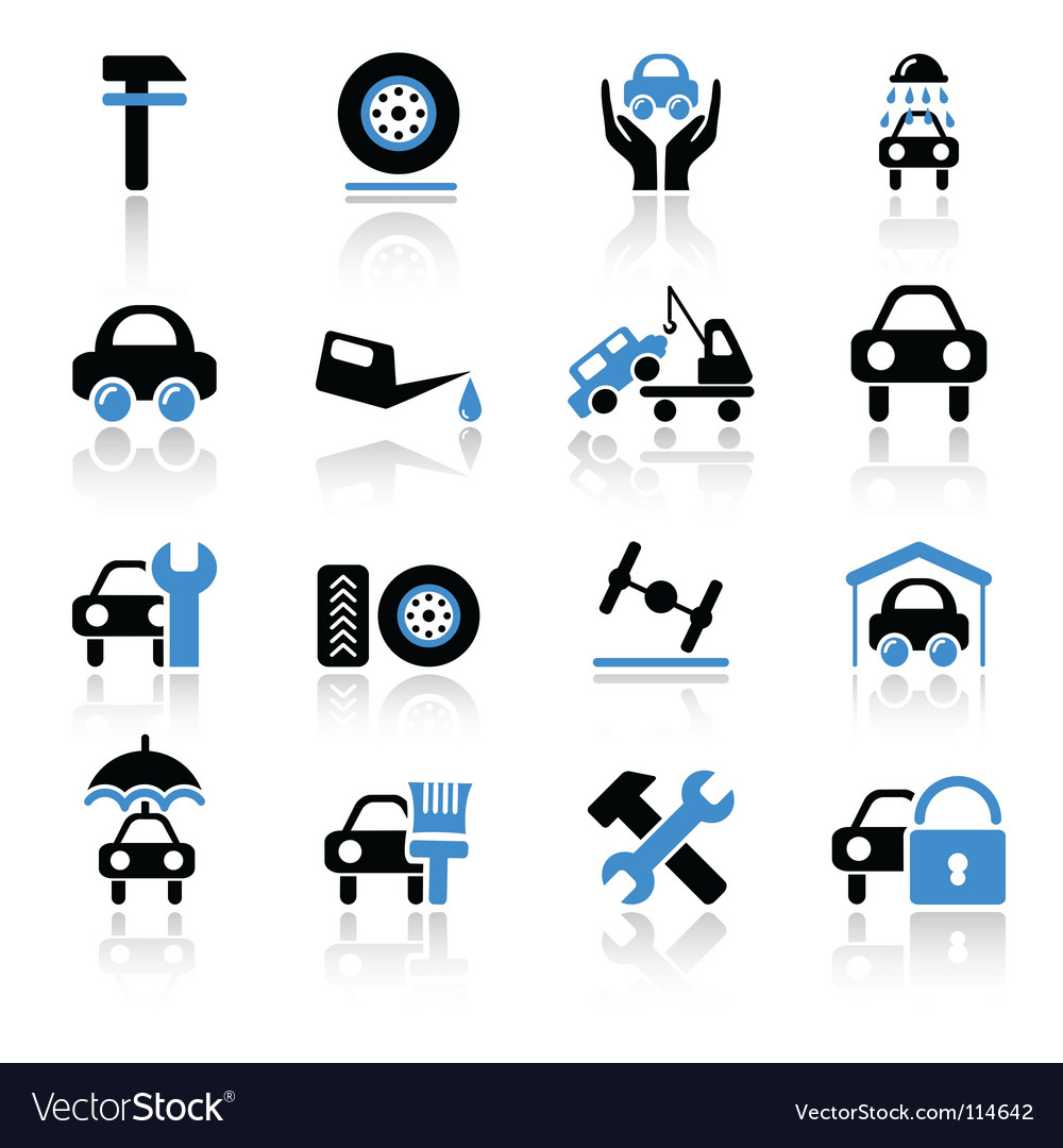 Car Service Icons Royalty Free Vector Image Vectorstock