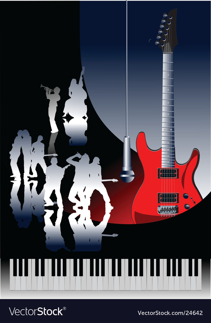 Piano guitar jazz vector image