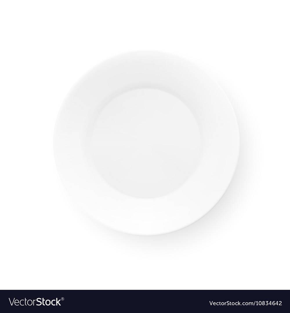 Realistic Plate Isolated On White Background Top vector image