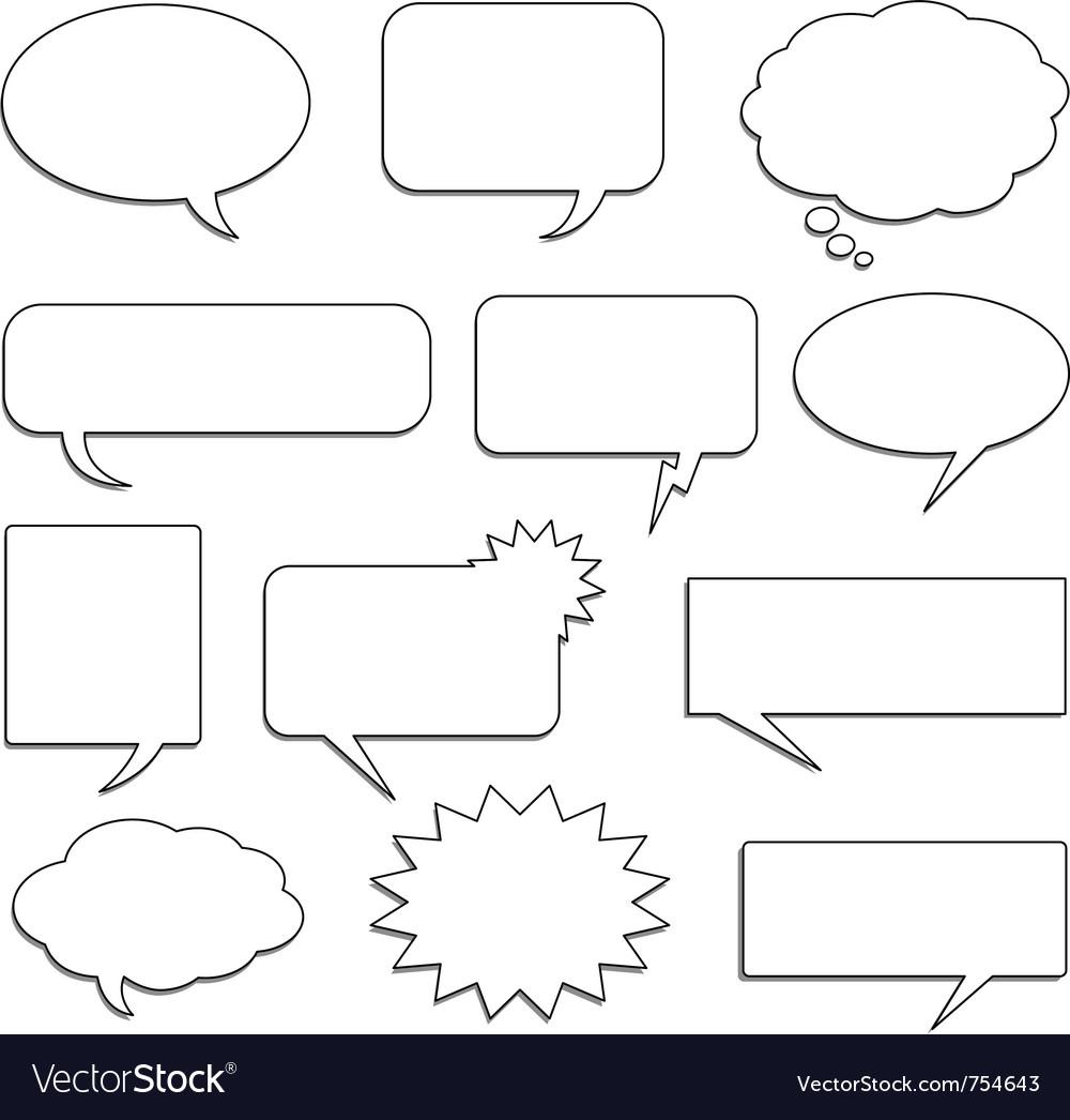 Comic speech bubbles vector image