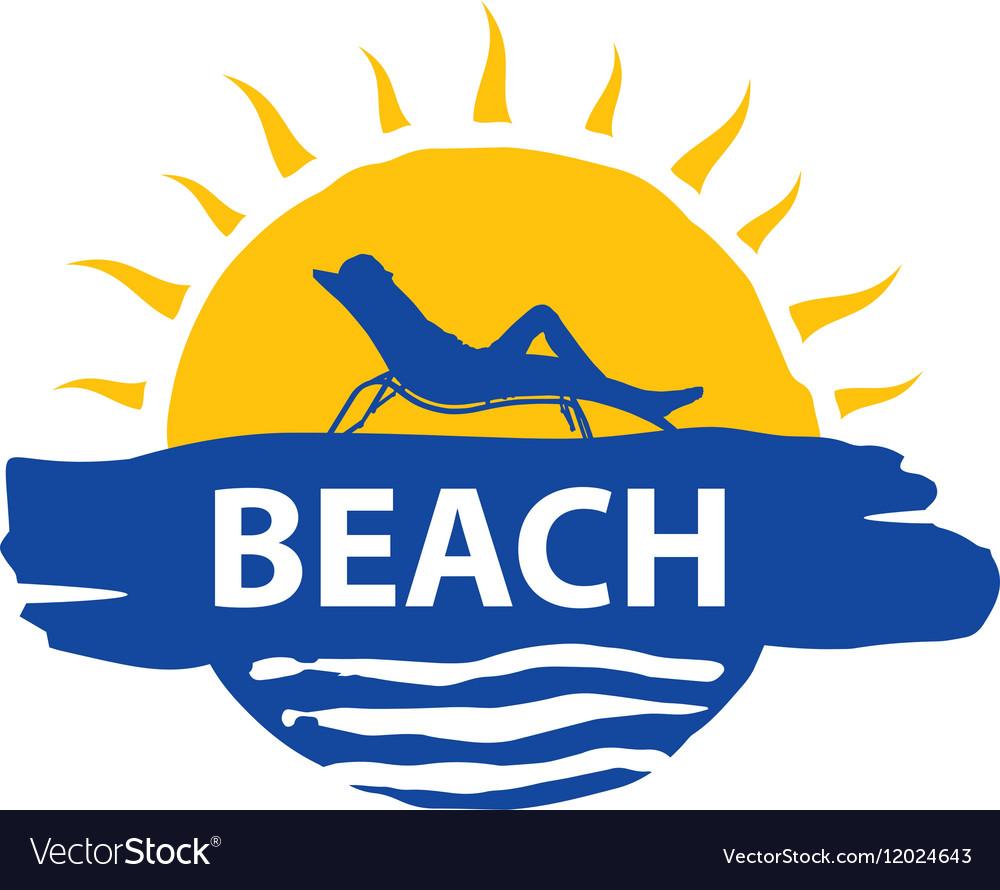 Logo beach vector image