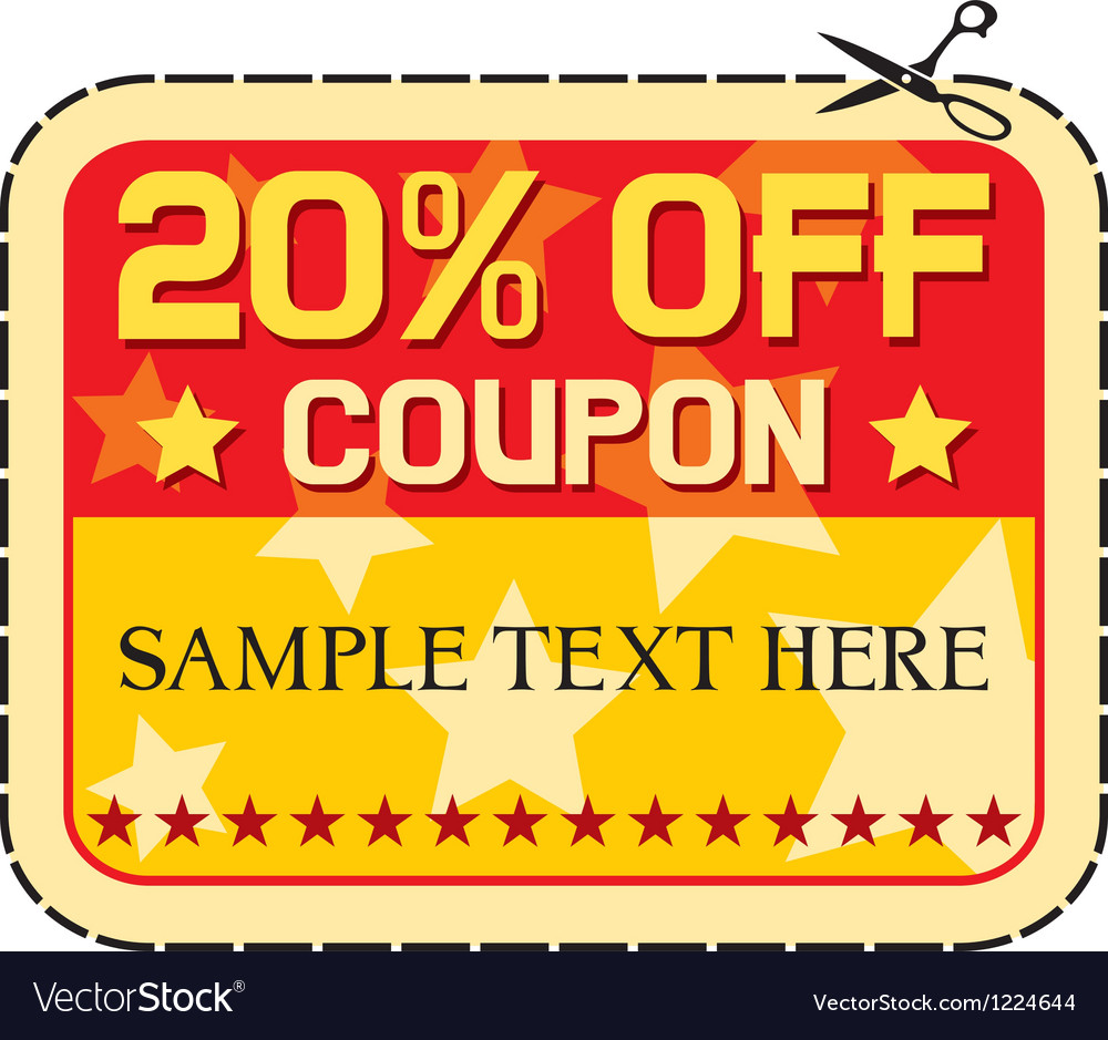 Coupon twelve percent discount Vector Image