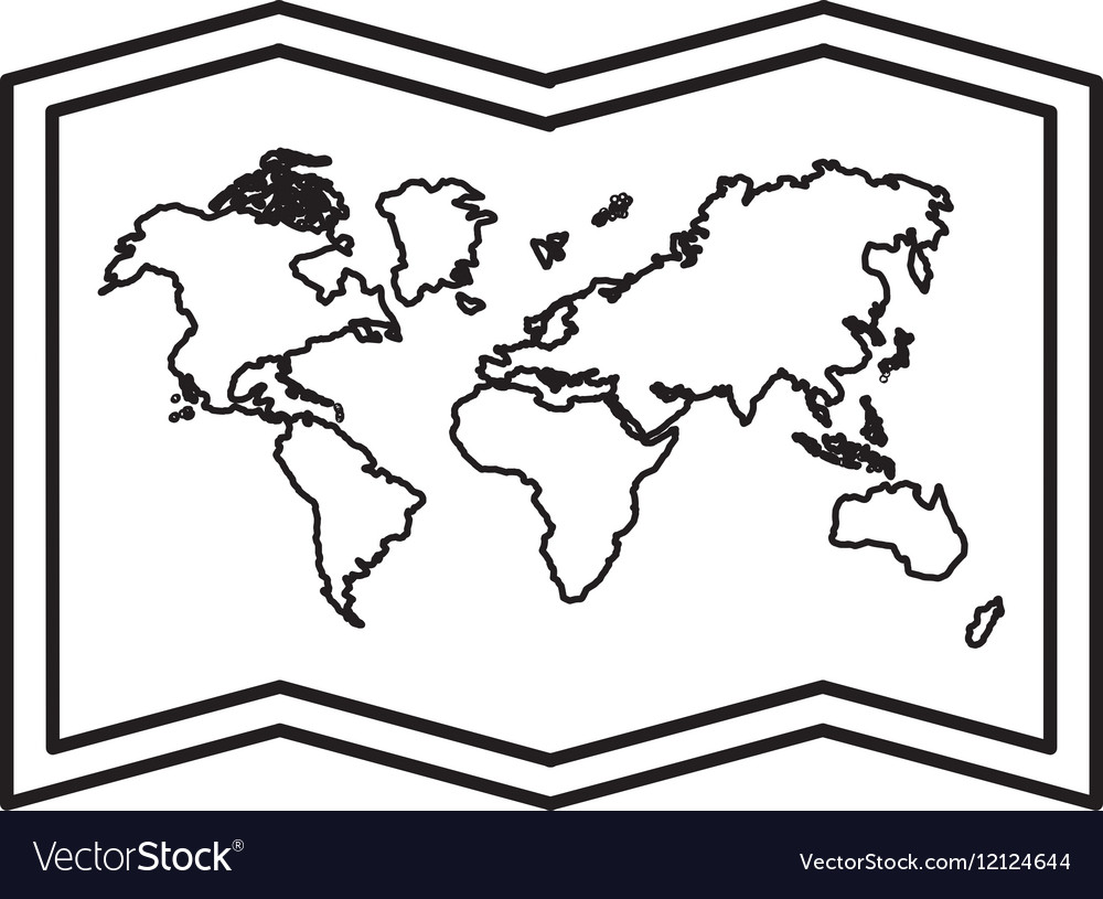 World map paper geography icon royalty free vector image world map paper geography icon vector image gumiabroncs Choice Image