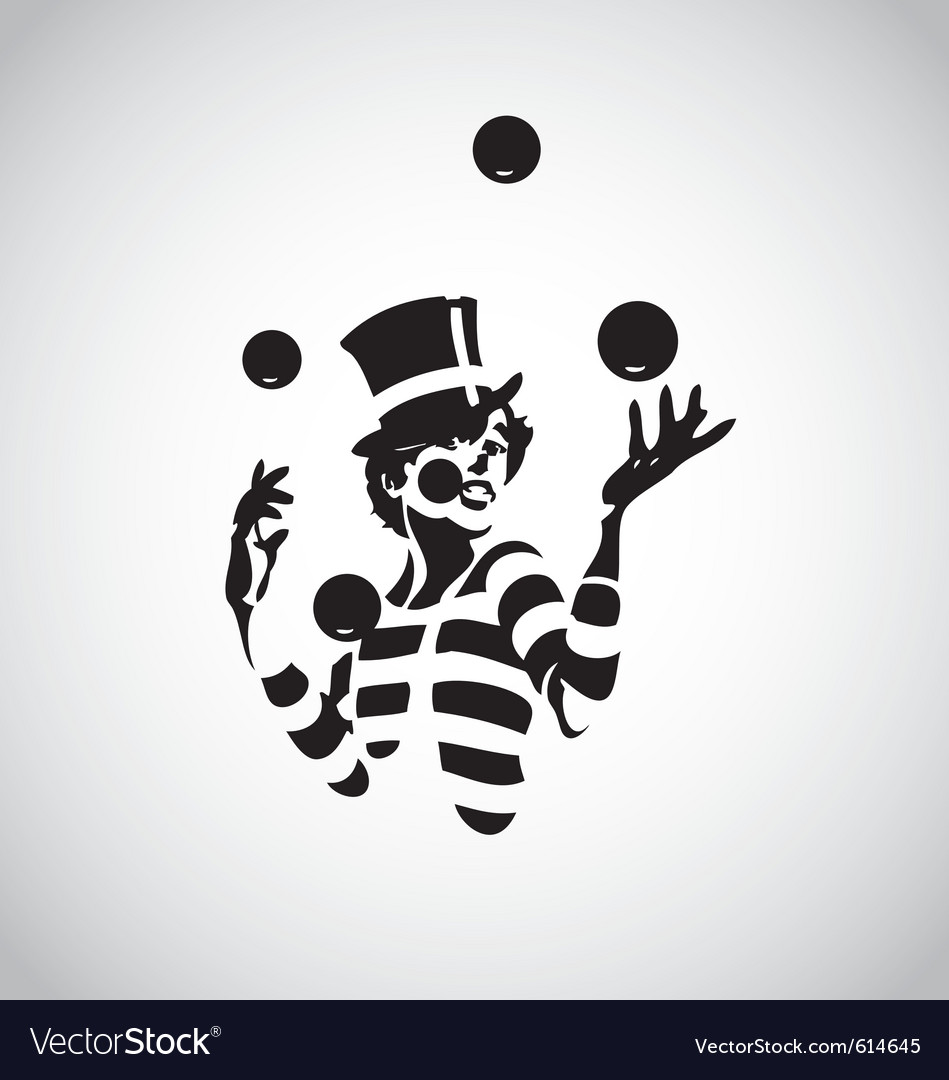 Clown 03 vector image