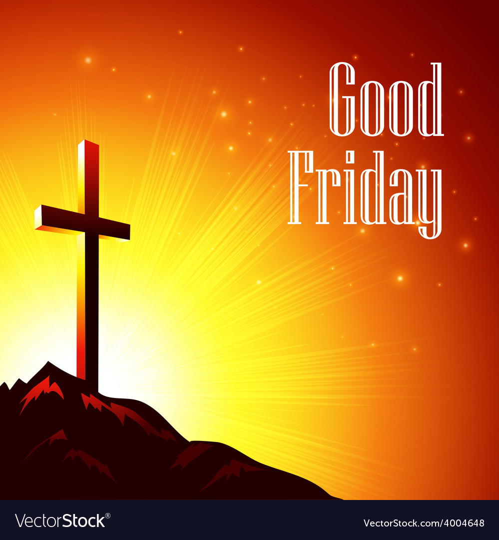 Good Friday with the image of vector image