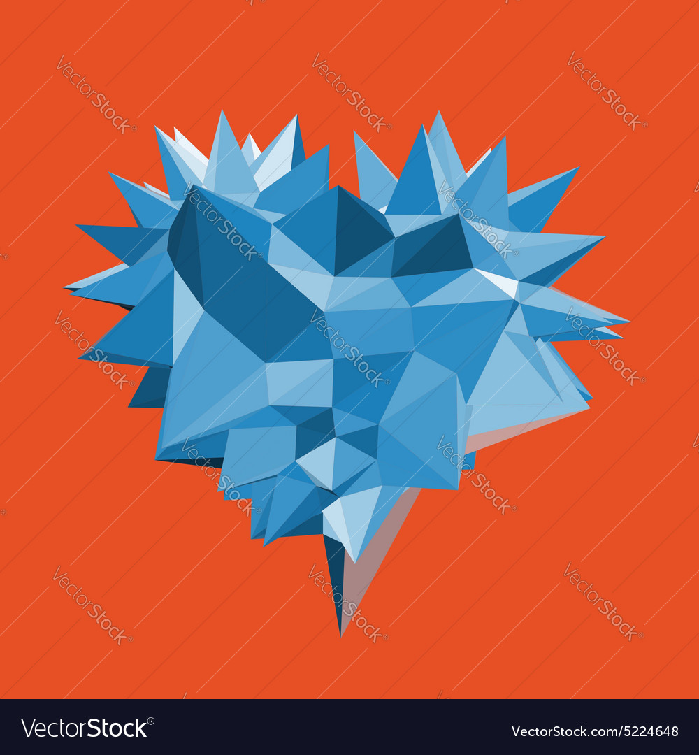 Heart with thorns 3d vector image