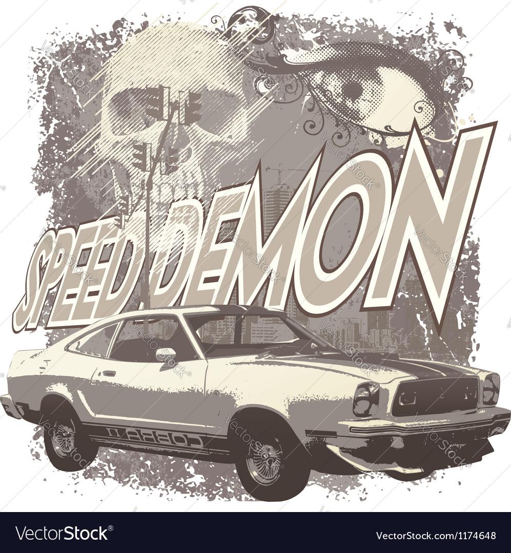Speed demon vector image