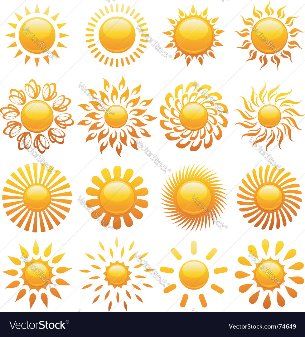 Suns elements vector image