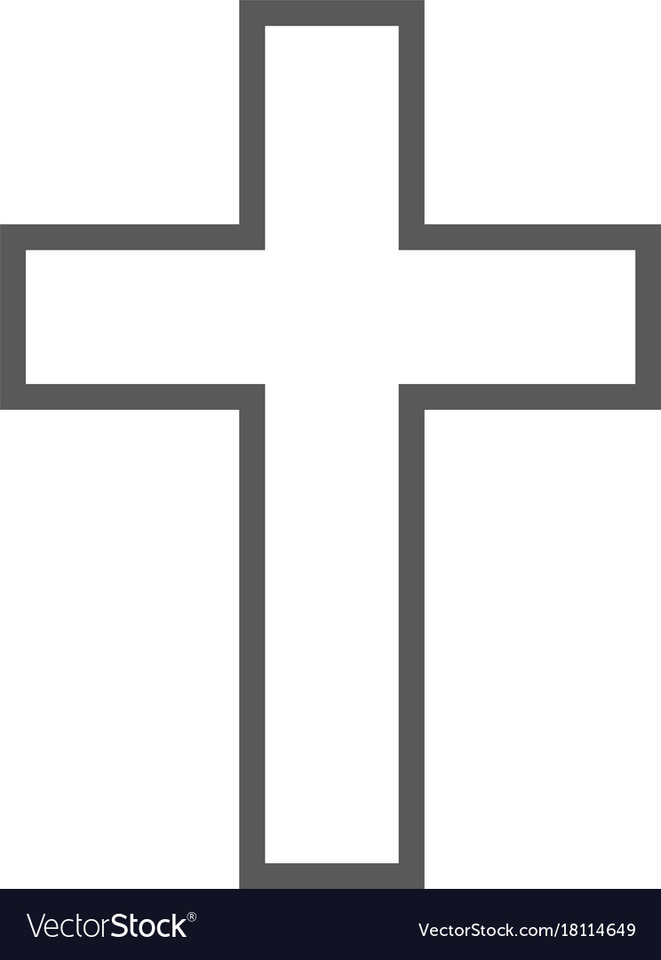 Catholic cross icon simple vector image