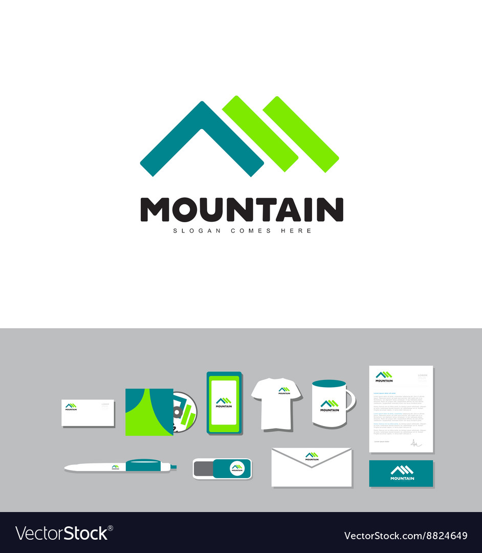 Mountain outdoor logo vector image