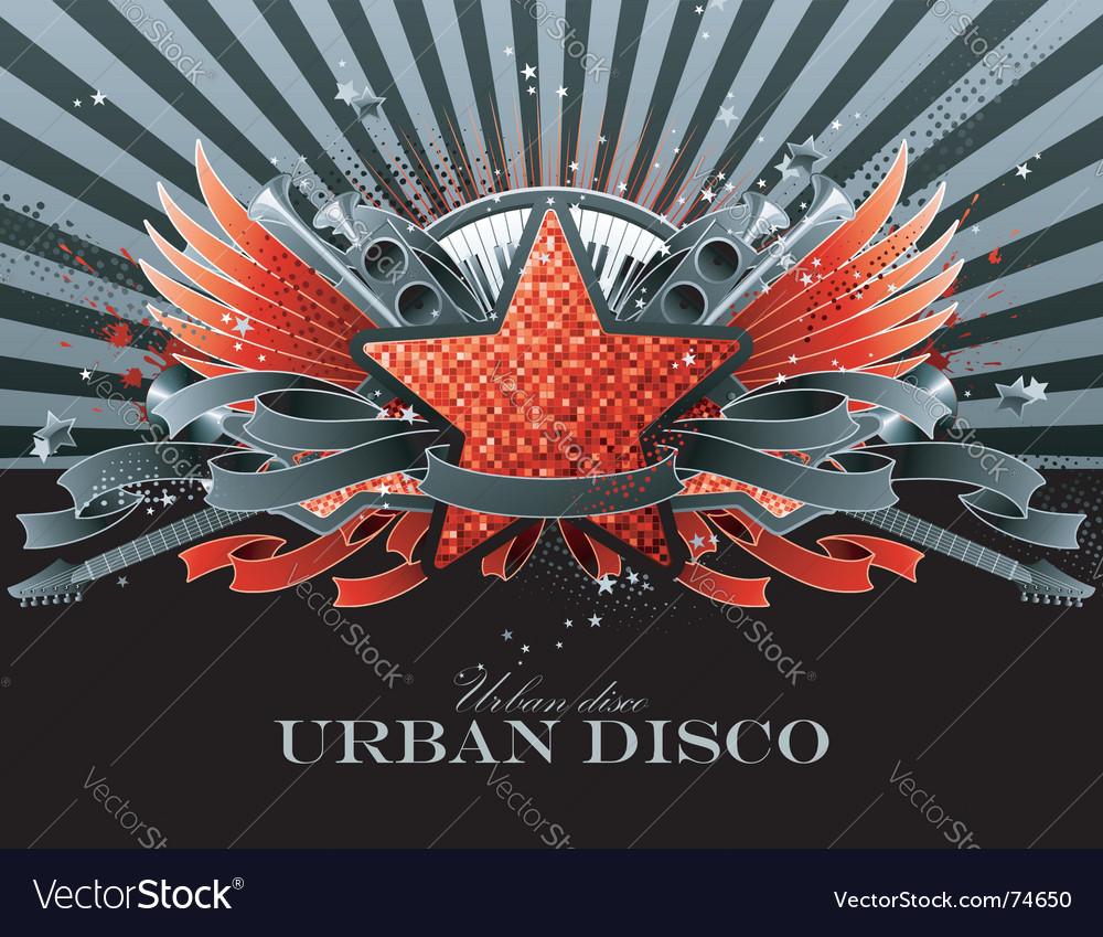 Party flyer design vector image