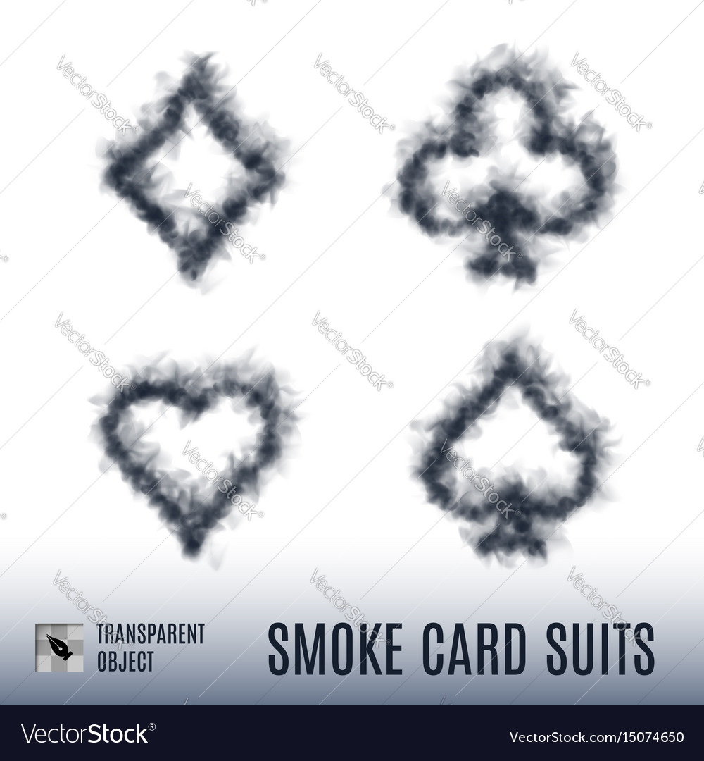 Card suits vector image
