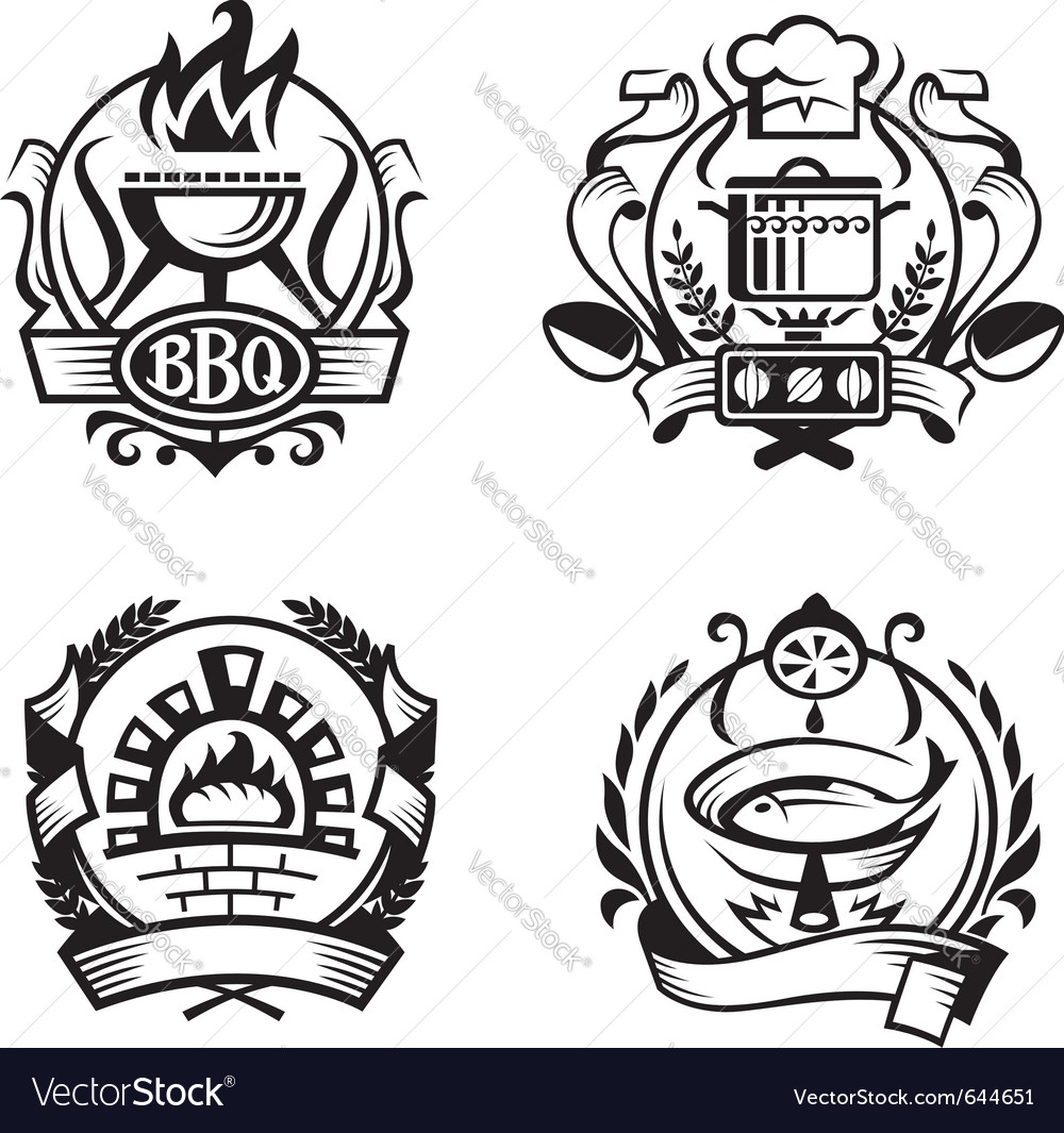 Set of different cooking banners vector image