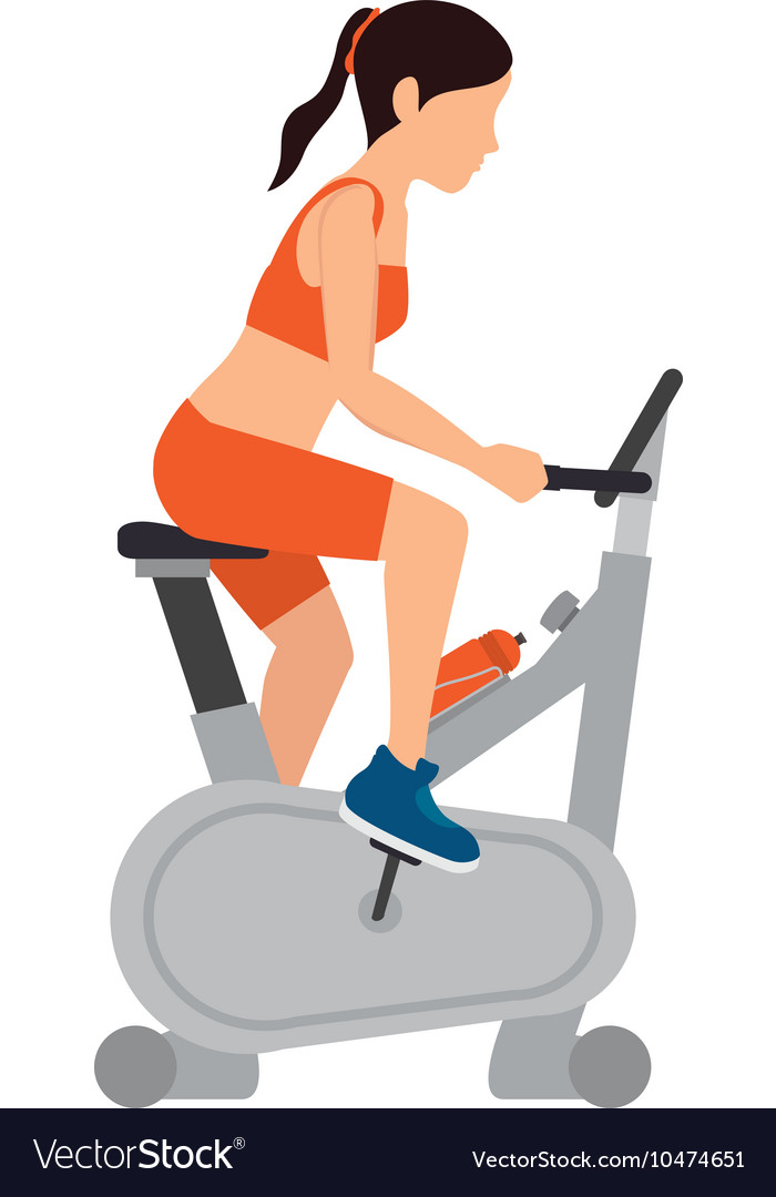 Girl spinning training gym vector image