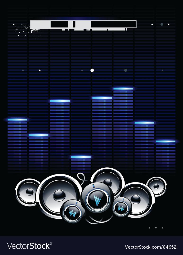 Speakers futuristic background vector image