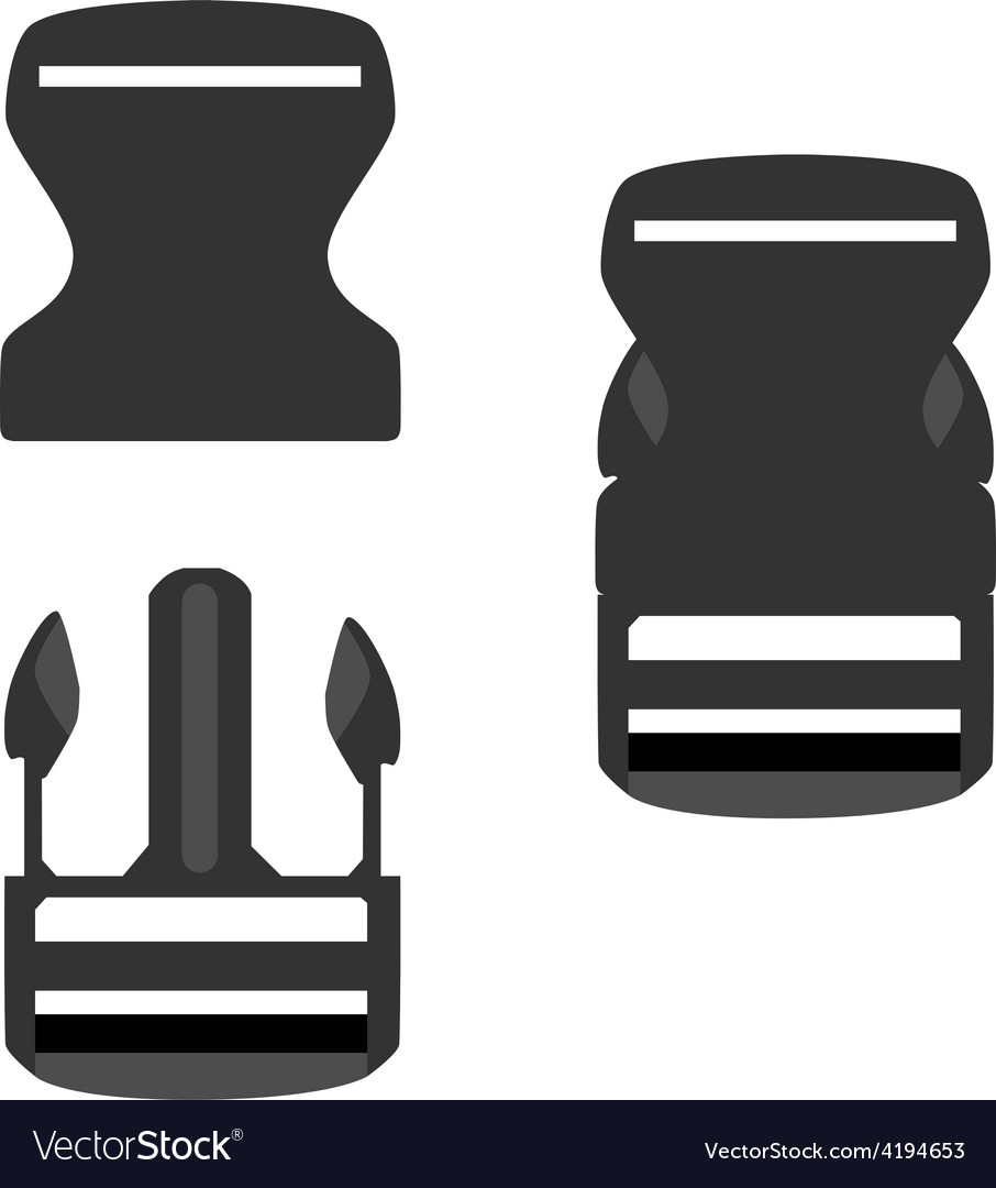 Backpack buckle vector image