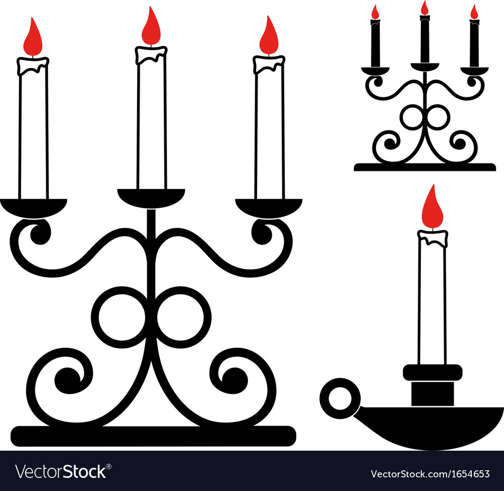 Candlestick vector image