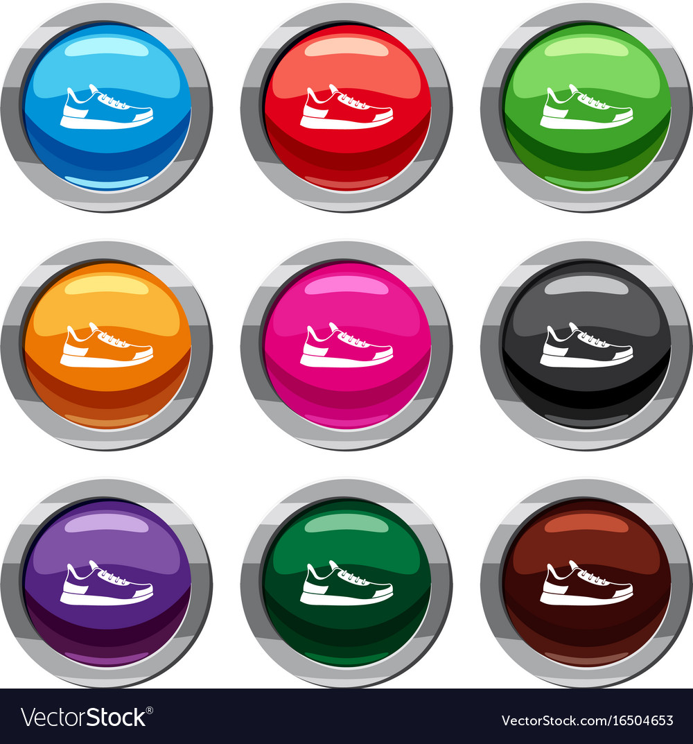 Sneaker set 9 collection vector image