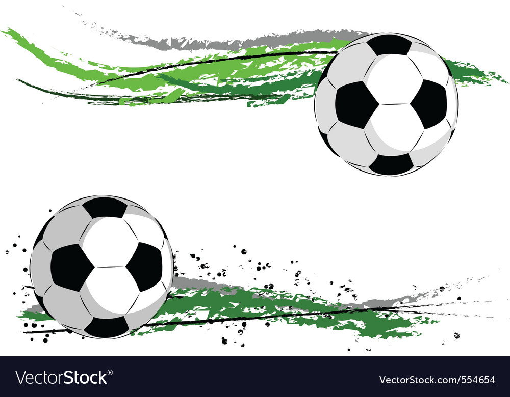 Football border vector image