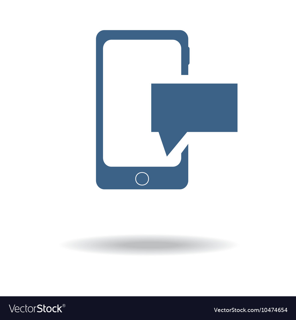 Phone sms icon vector image