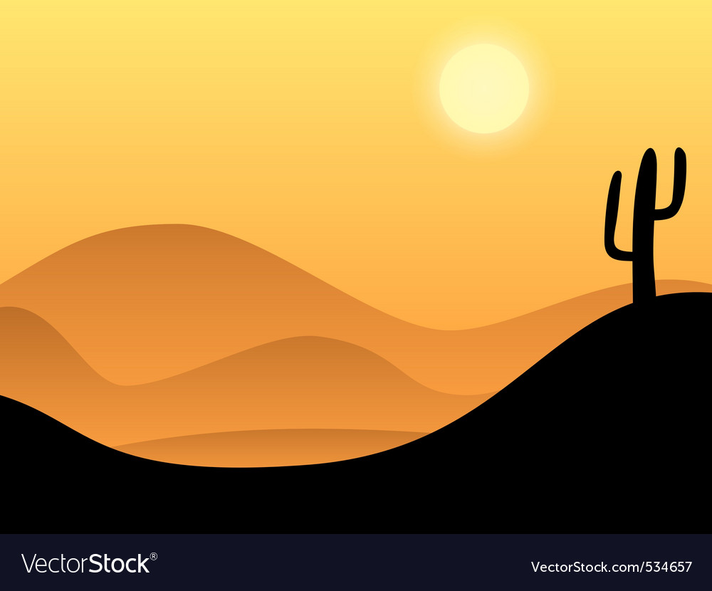 hot sand desert landscape background