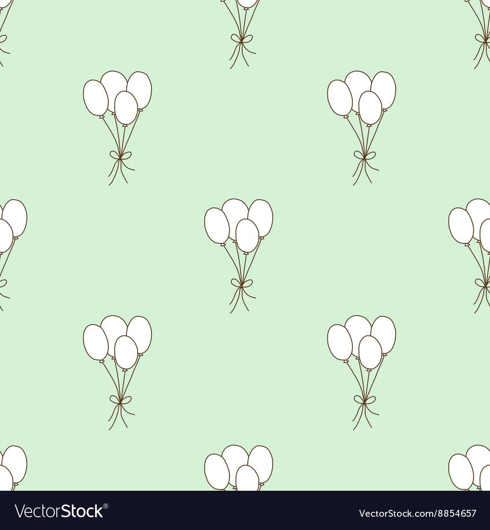 Seamless pattern balloon vector image