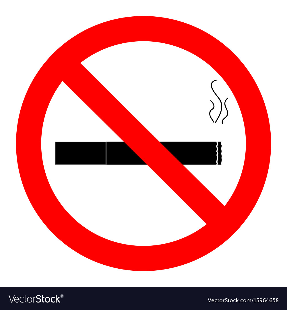 Ban smoking icon vector image