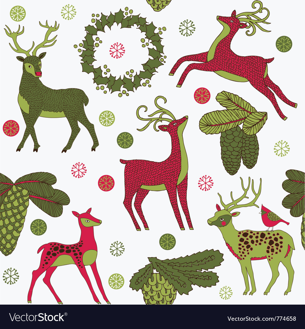 Vintage christmas art print Royalty Free Vector Image
