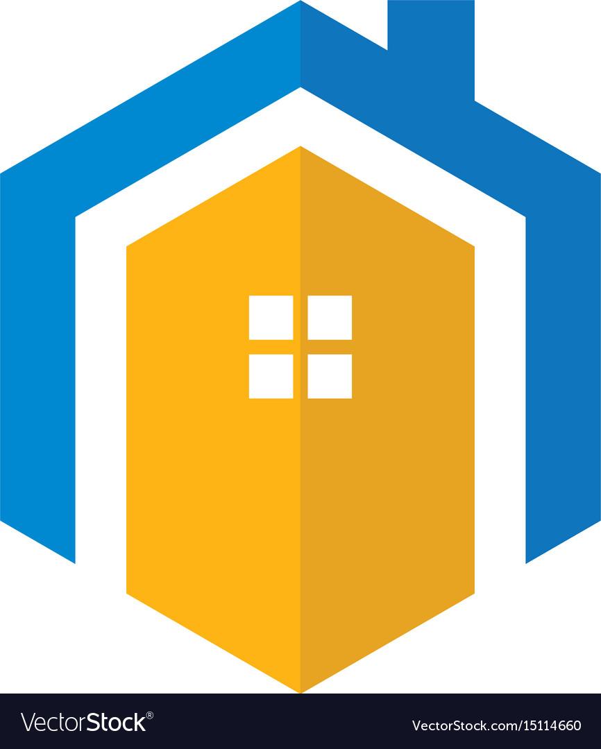 Hexagon home vector image