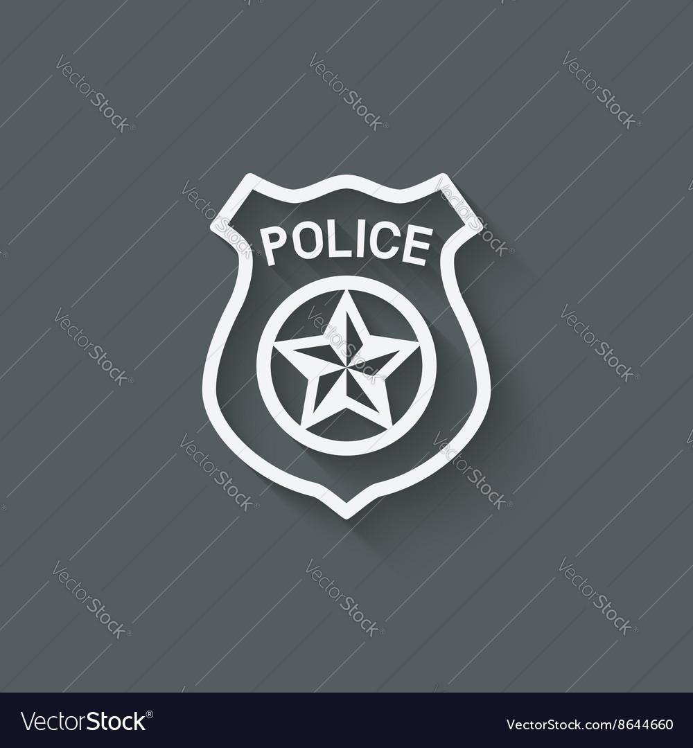 Police badge symbol vector image