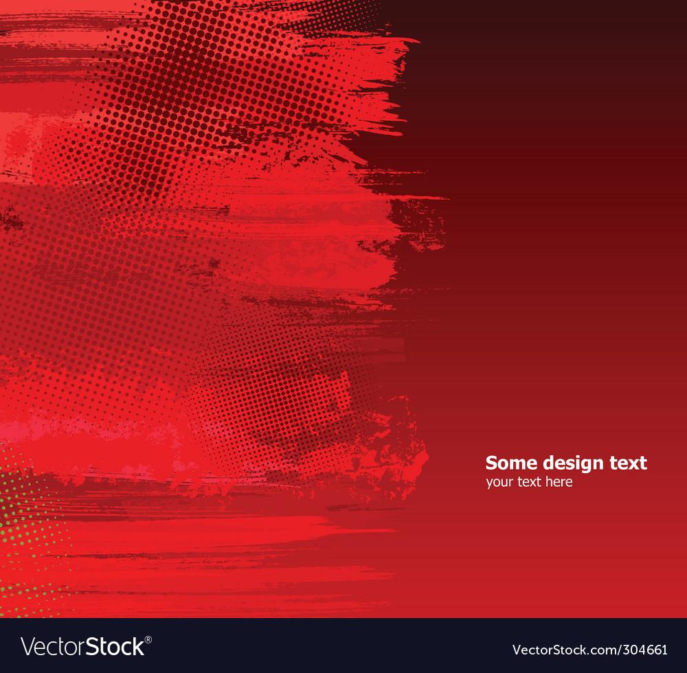 Grunge splashes background vector image