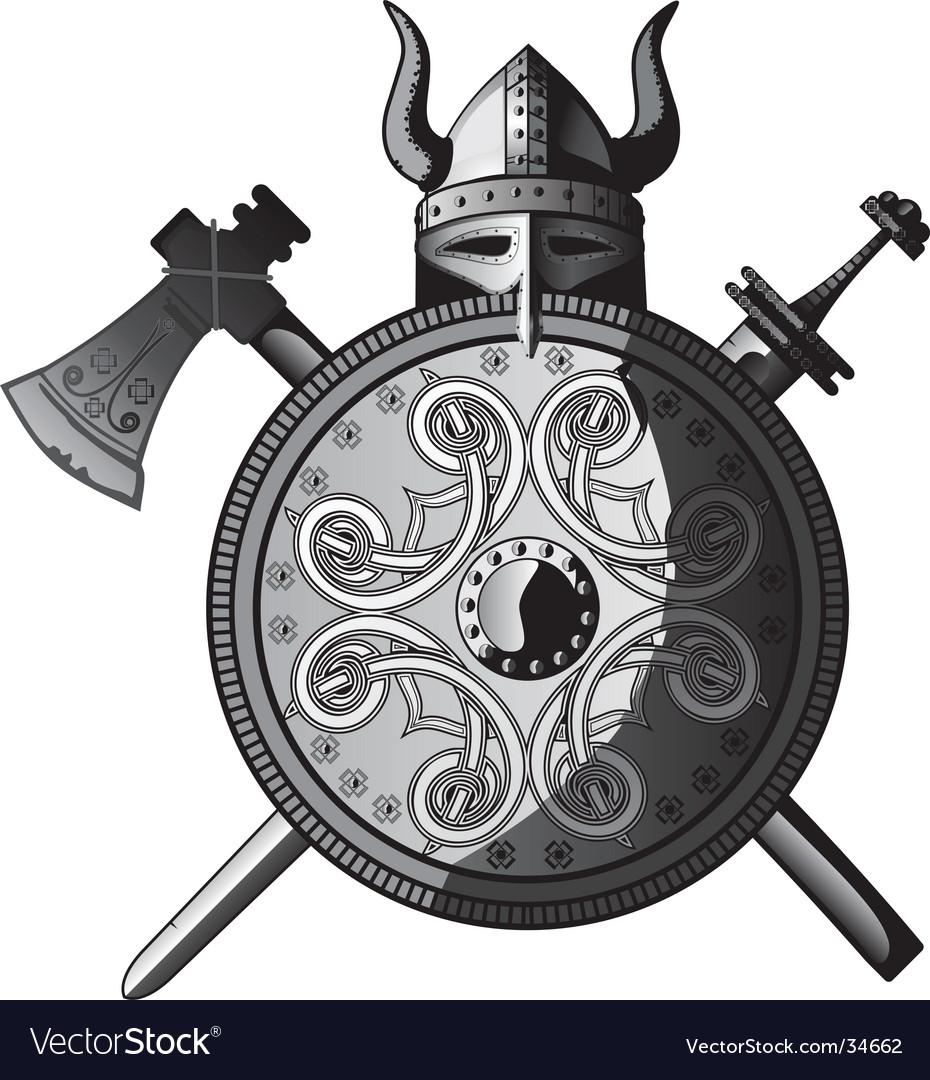 Vikings icon vector image
