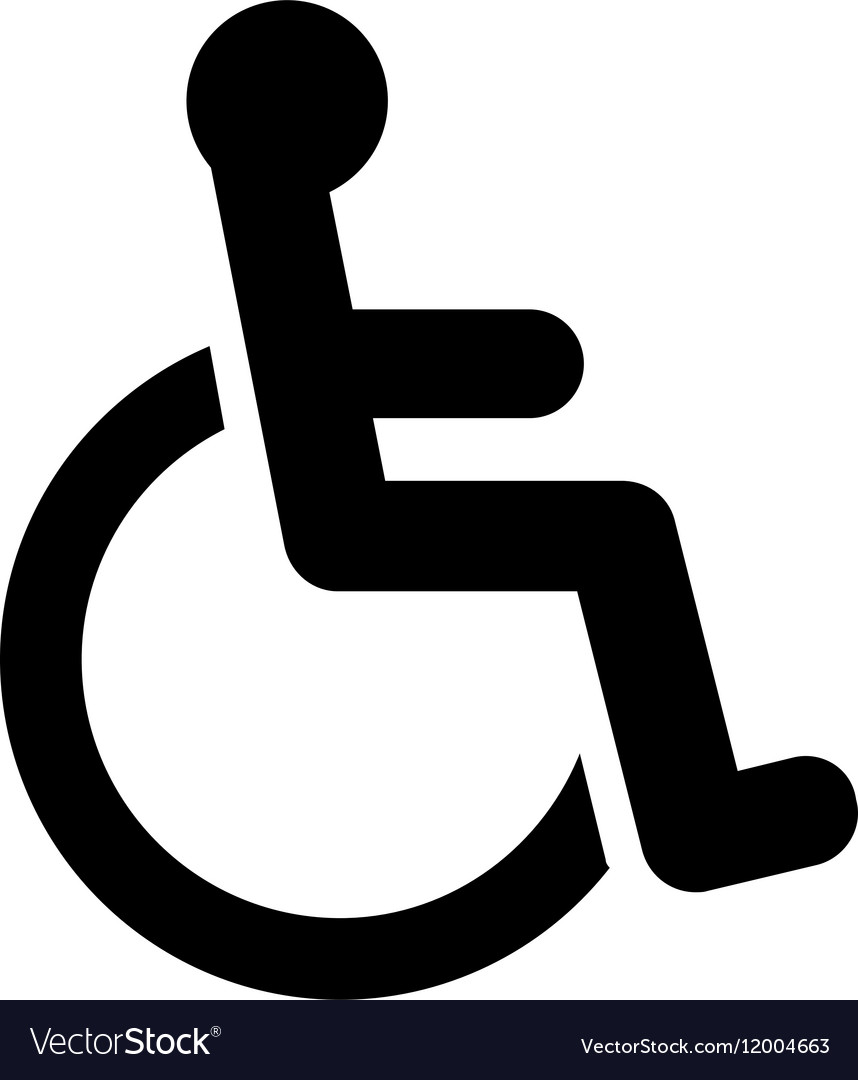 Disabled Icon Flat vector image