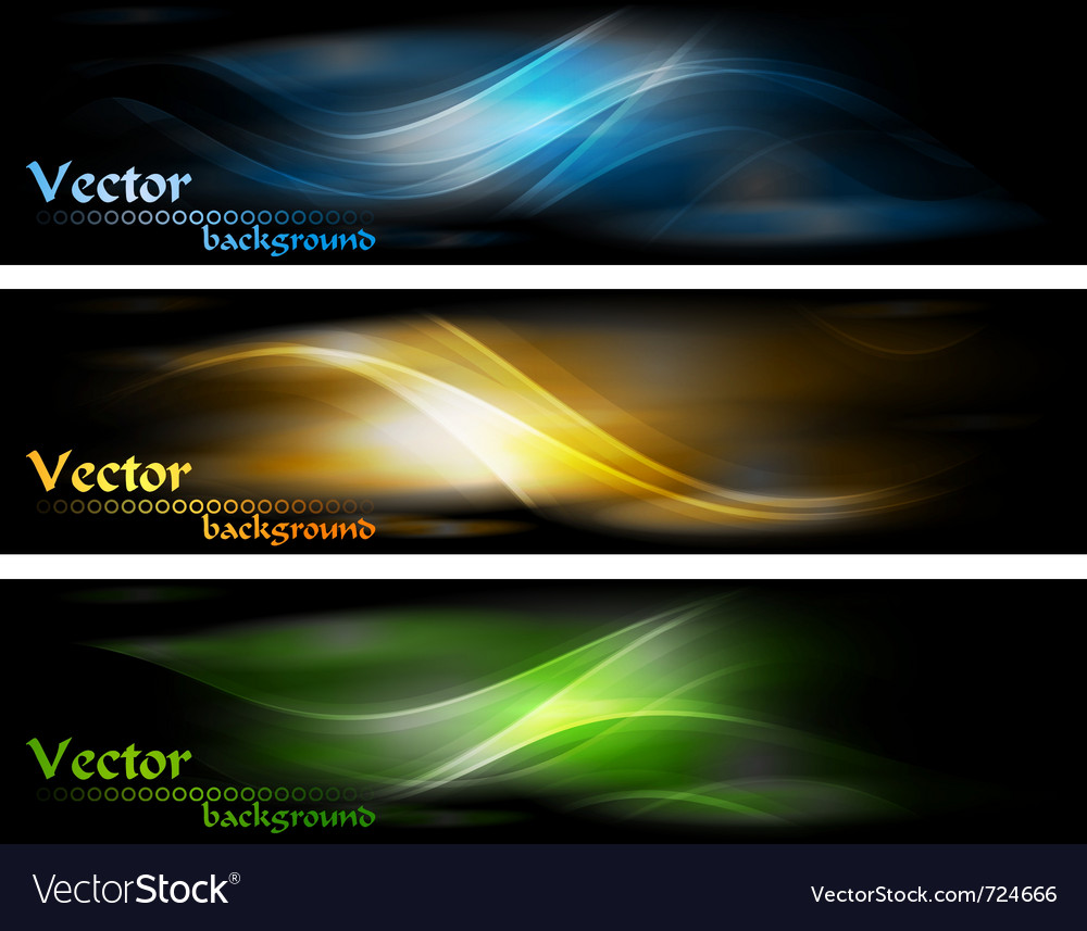 Abstract glowing banners collection vector image