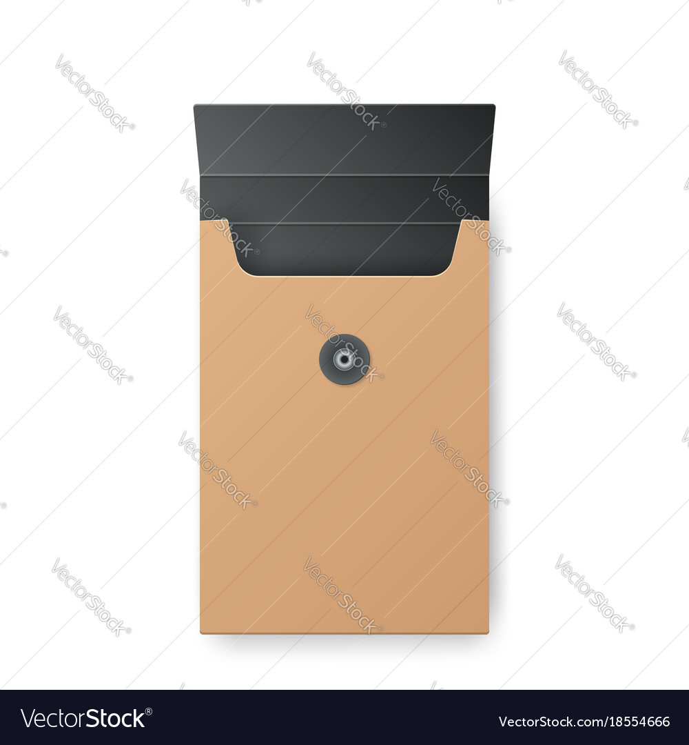 Paper yellow box vector image