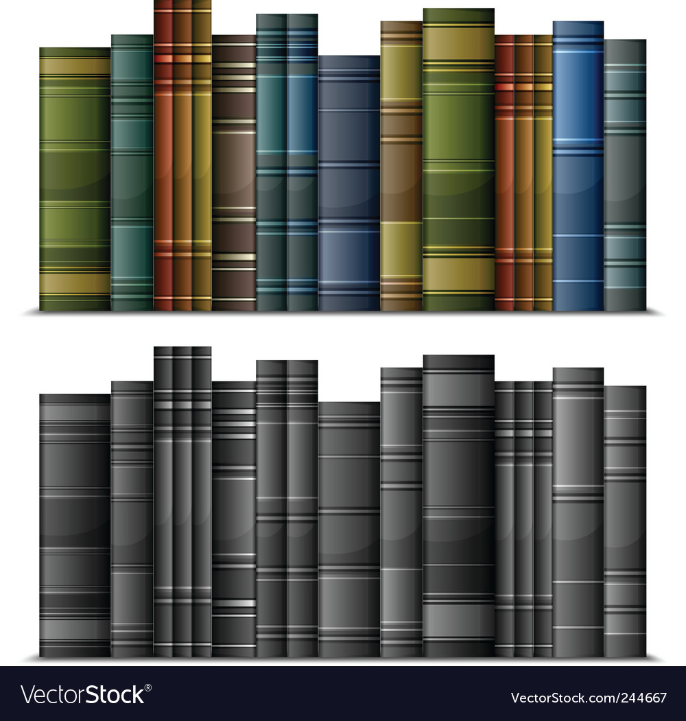 Vintage books vector image