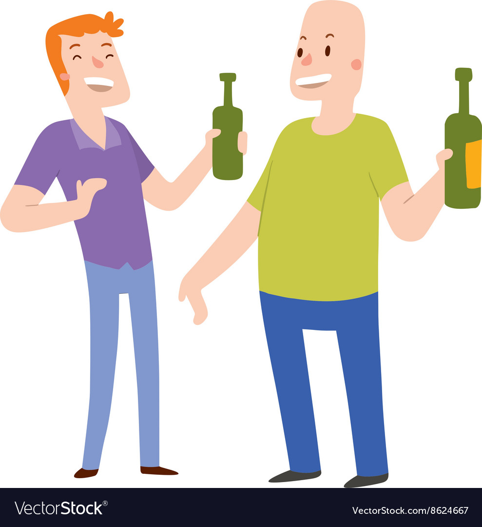 Alcoholics people vector image