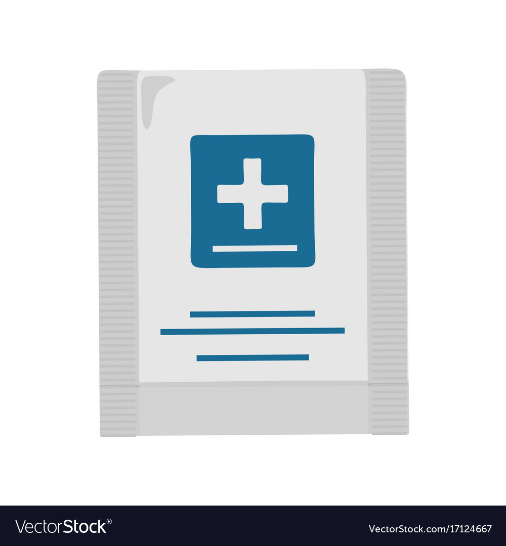 First aid kit in flat design vector image