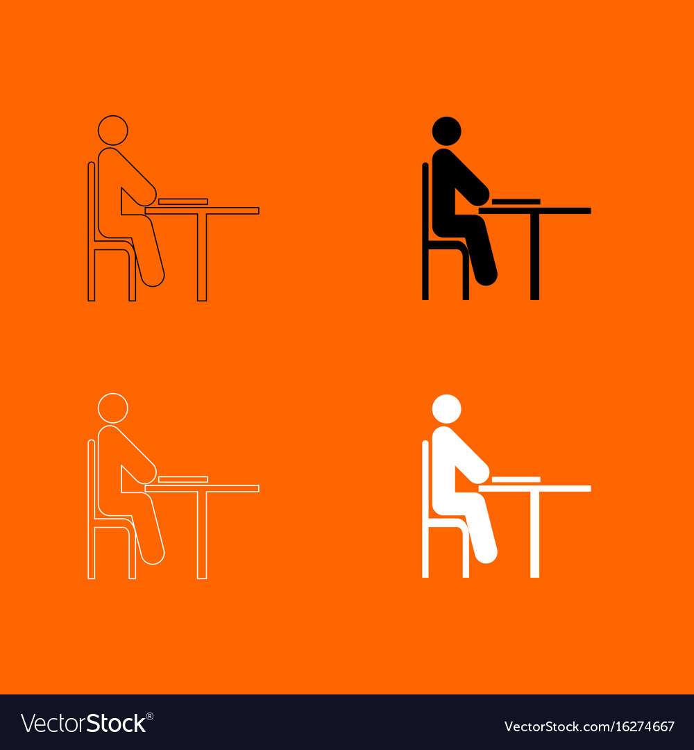 Man with notepad - stick icon vector image