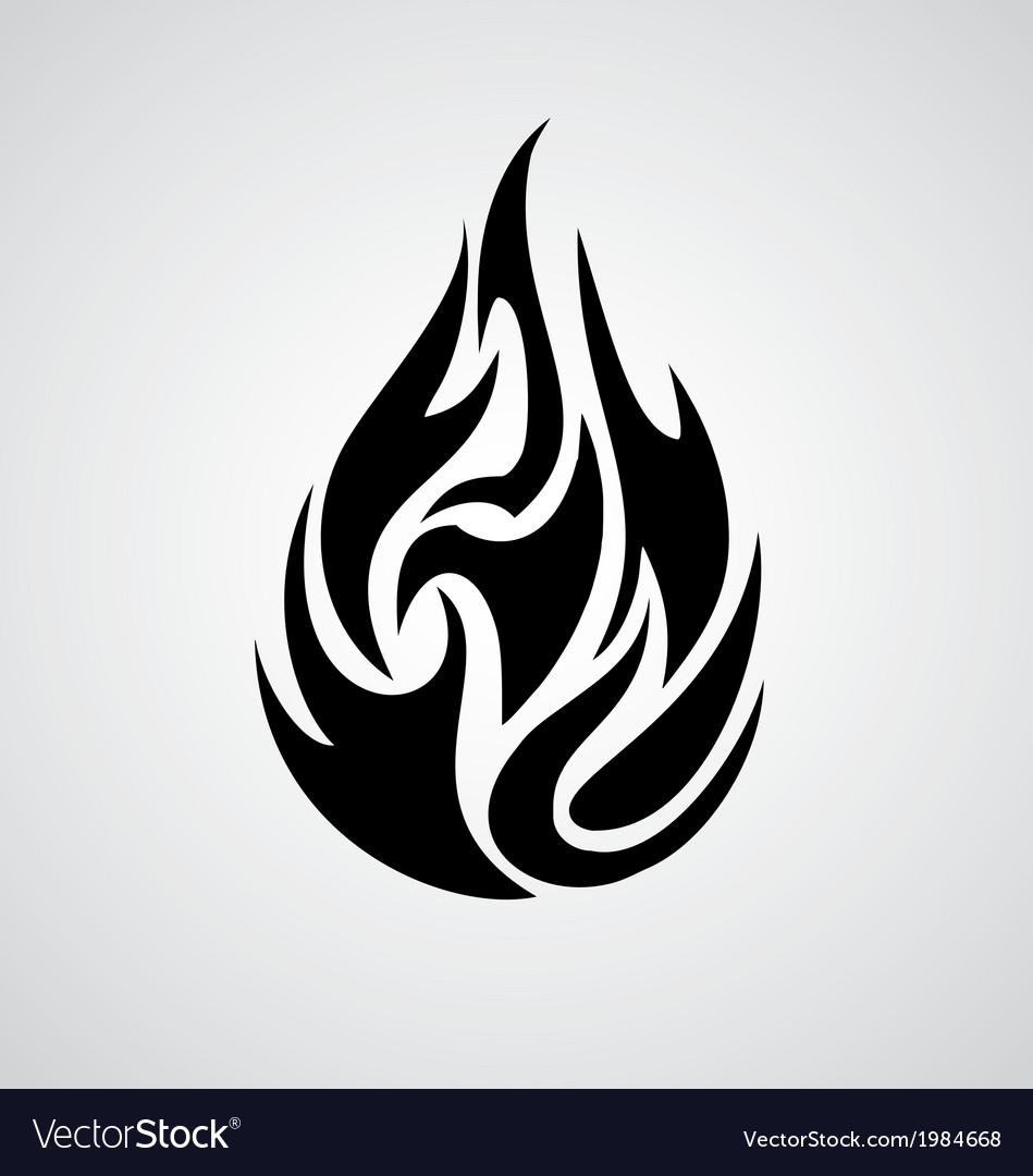 tribal fire royalty free vector image vectorstock
